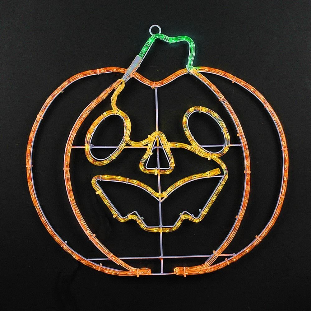 "Picture of 22"" Halloween Pumpkin LED Rope Light Motif"