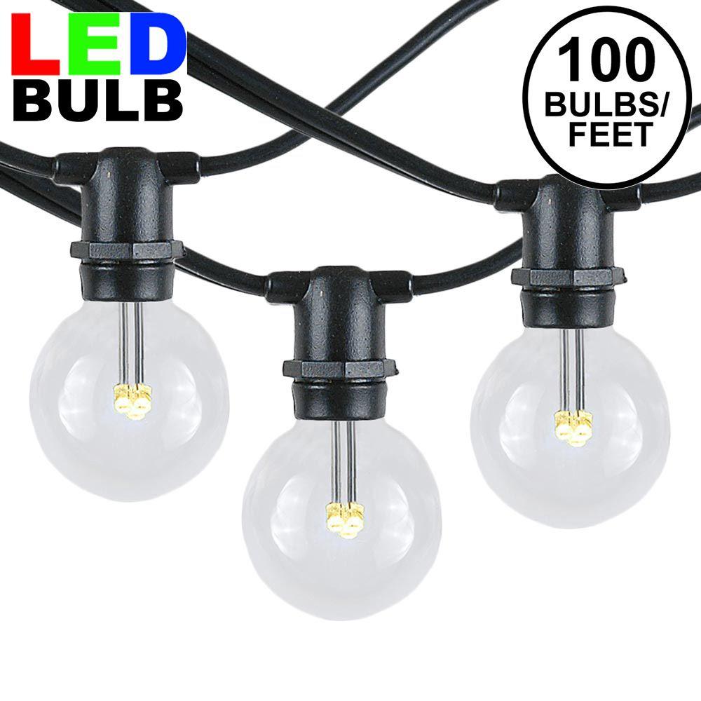 Picture of 100 Warm White LED G40 Commercial Grade Candelabra Base Light Set