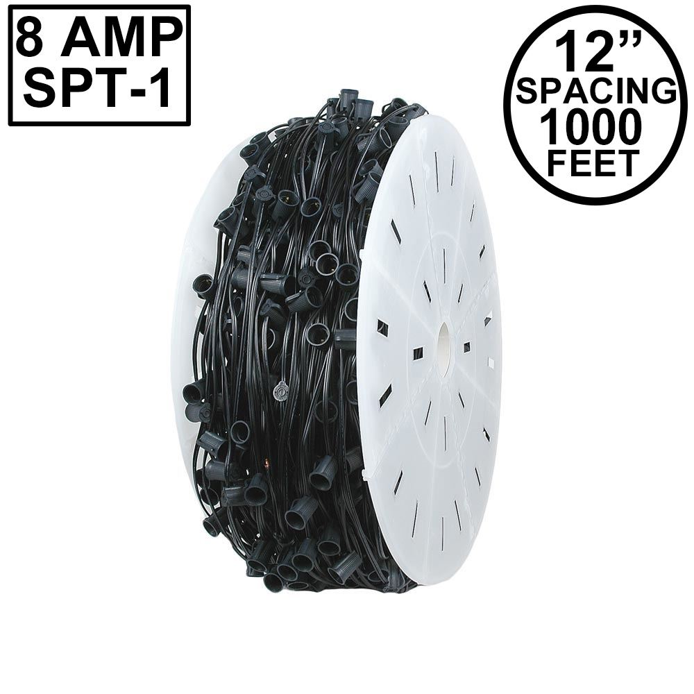 "Picture of C7 1000 Spool 12"" Spacing 8 Amp Black Wire"