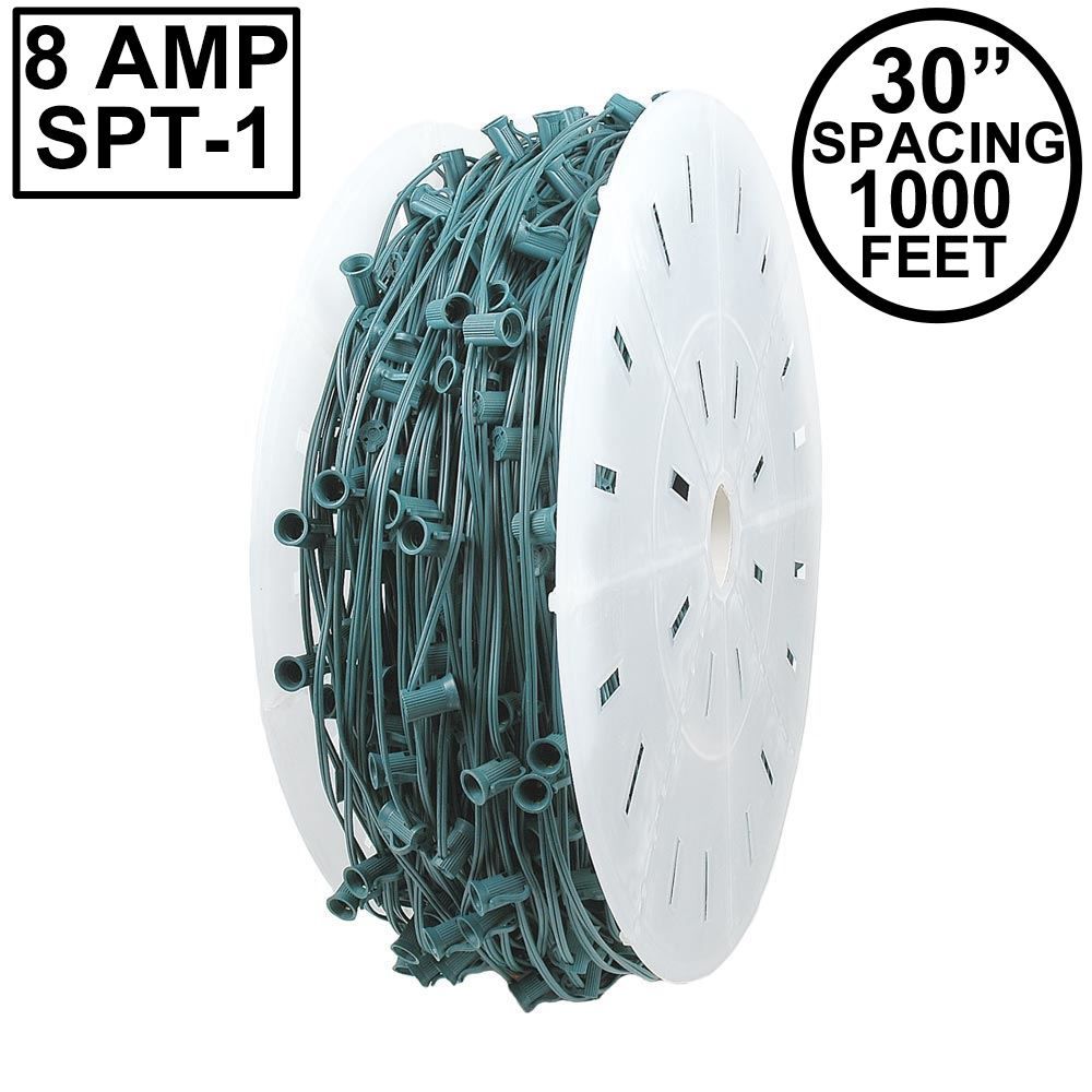 "Picture of C7 1000' Spool 30"" Spacing 8 Amp Green Wire"
