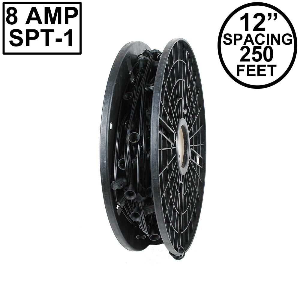 "Picture of C9 250' Spool 12"" Spacing 8 Amp Black Wire"