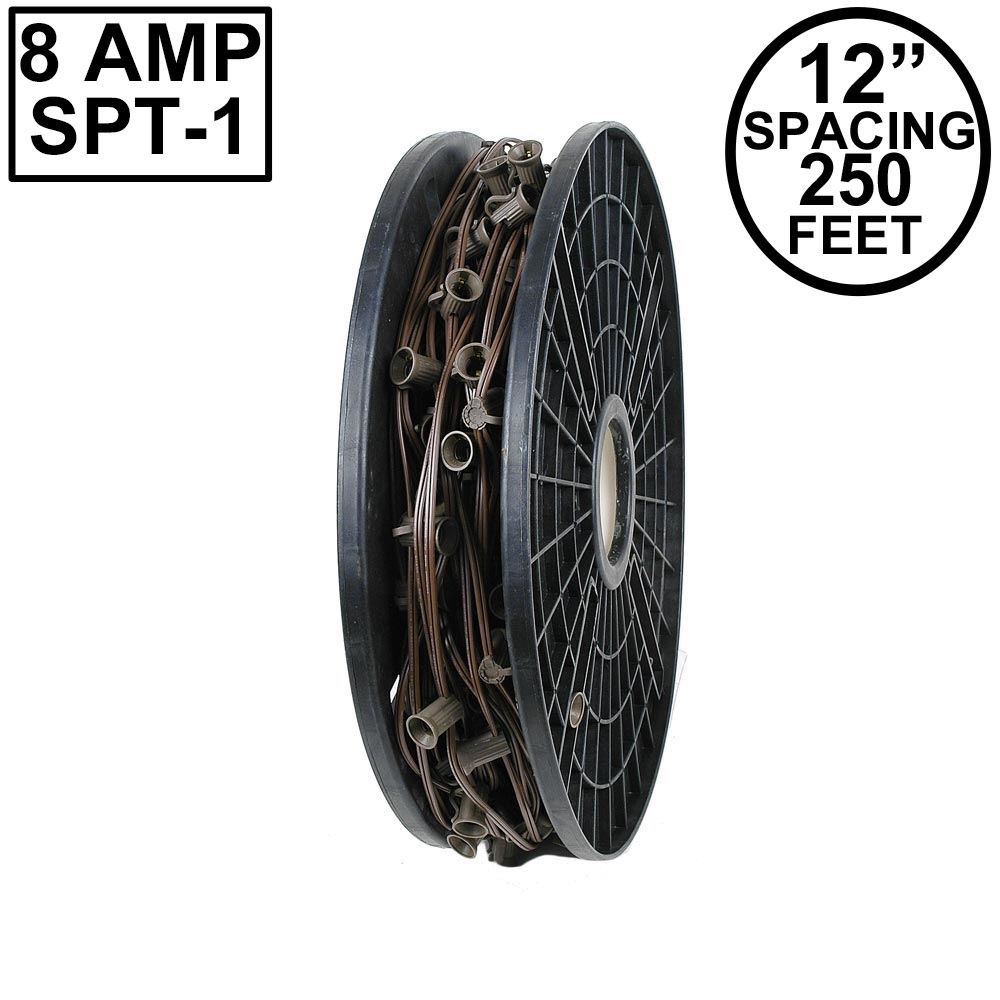 "Picture of C9 250' Spool 12"" Spacing 8 Amp Brown Wire"
