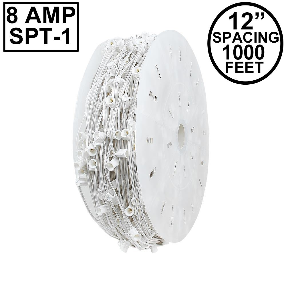 "Picture of C9 1000' Spool 12"" Spacing 8 Amp White Wire"