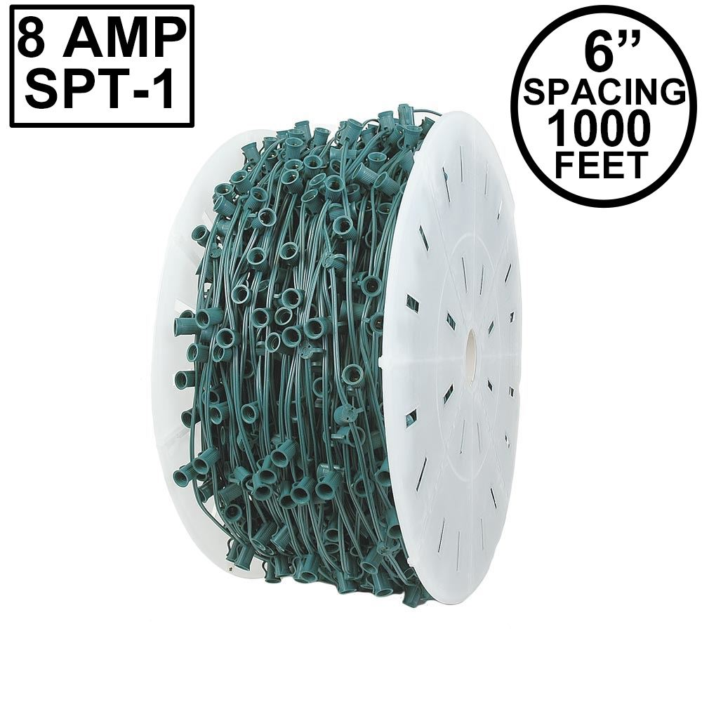 "Picture of C9 1000' Spool 6"" Spacing 8 Amp Green Wire"