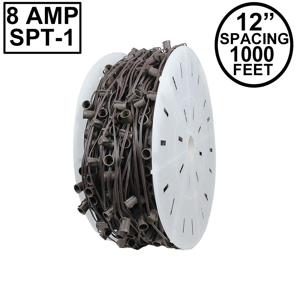 "Picture of C9 1000' Spool 12"" Spacing 8 Amp Brown Wire"