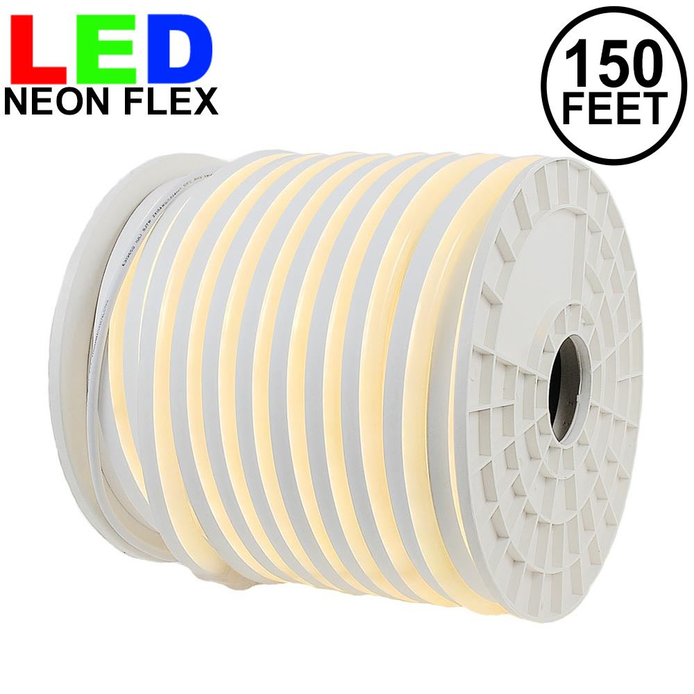 Picture of 150 Ft Warm White LED Neon Flex Rope Light Spool 120 Volt