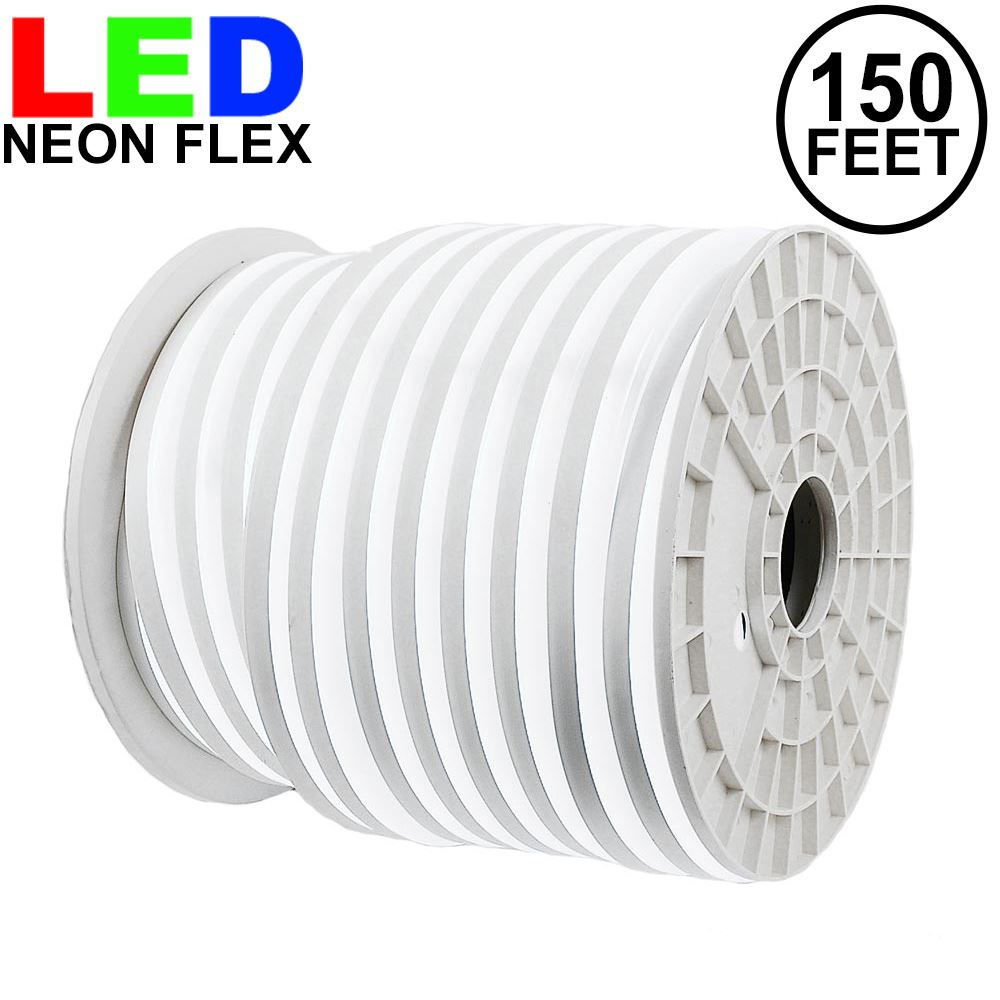 Picture of 150 Ft Pure White LED Neon Flex Rope Light Spool 120 Volt