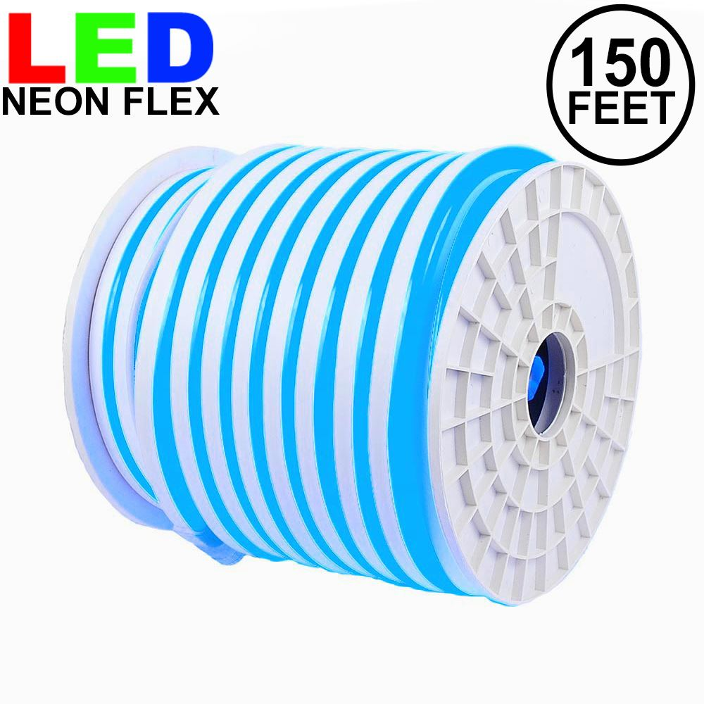 Picture of 150 Ft Blue LED Neon Flex Rope Light Spool 120 Volt
