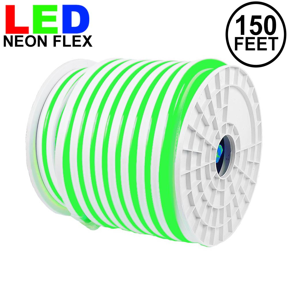 Picture of 150 Ft Green LED Neon Flex Rope Light Spool 120 Volt