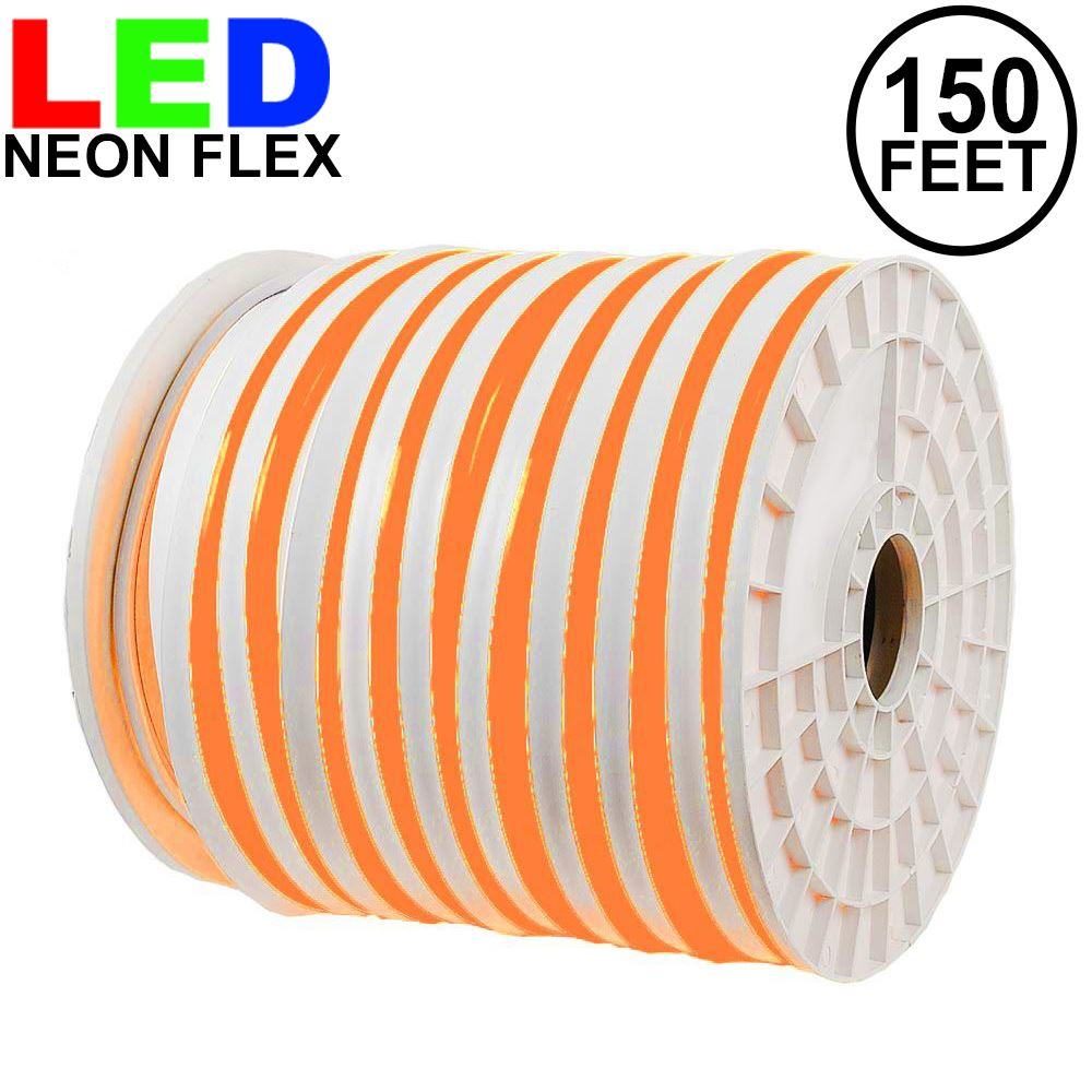 Picture of 150 Ft Orange LED Neon Flex Rope Light Spool 120 Volt