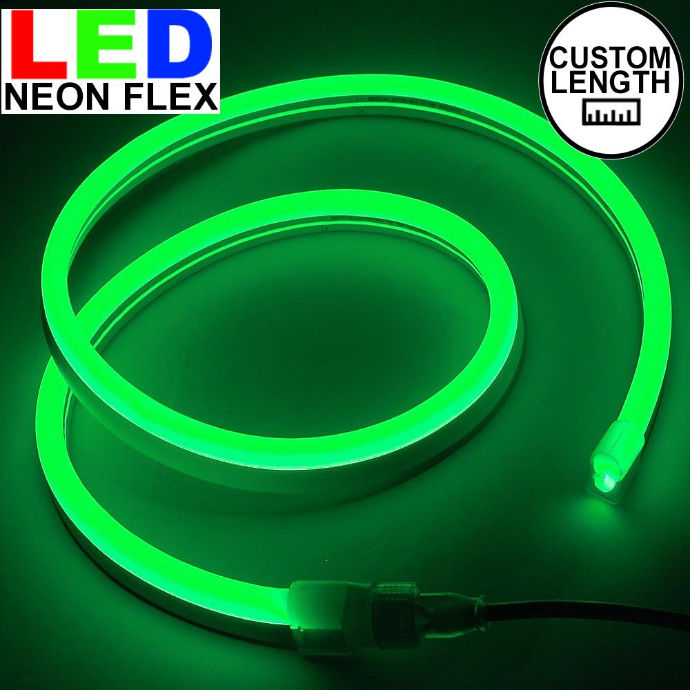 Picture of Green LED Neon Flex Custom Cut 120v