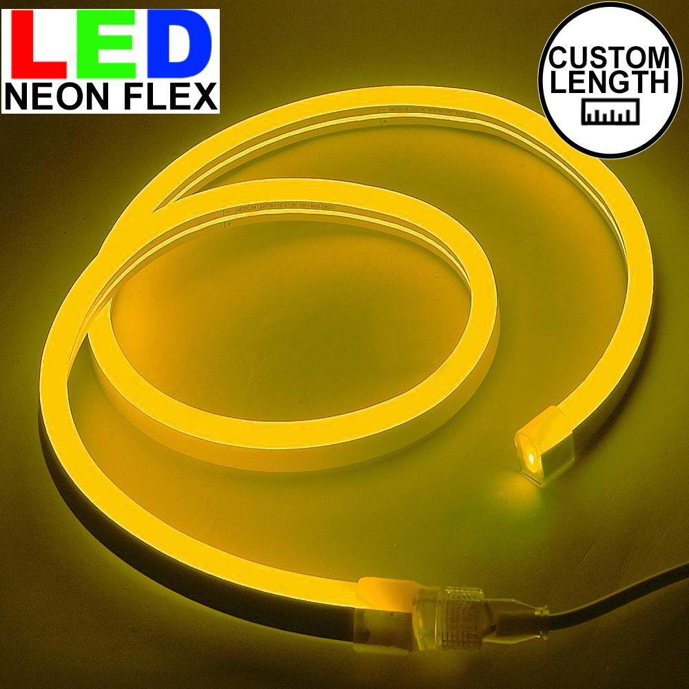 Picture of Amber LED Neon Flex Custom Cut 120v