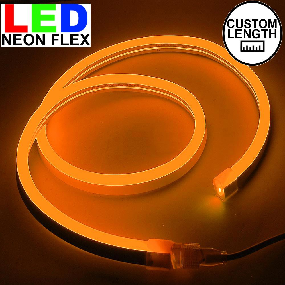 Picture of Orange LED Neon Flex Custom Cut 120v