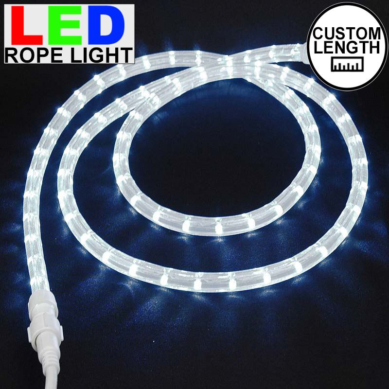 "Picture of Pure White LED Custom Rope Light Kit 1/2"" 2 Wire 120v"