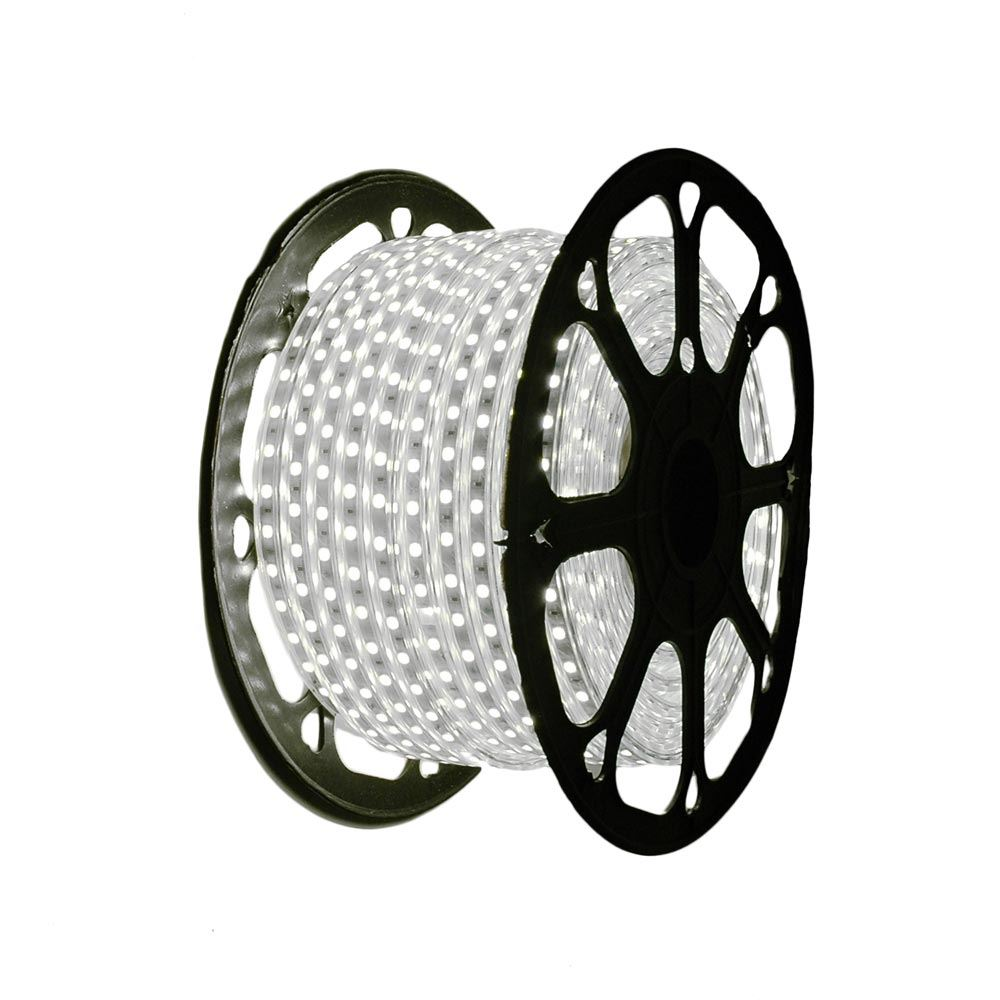 "Picture of Pure White LED Strip Light Spool 164' of 1/2"" 2 Wire 120V"