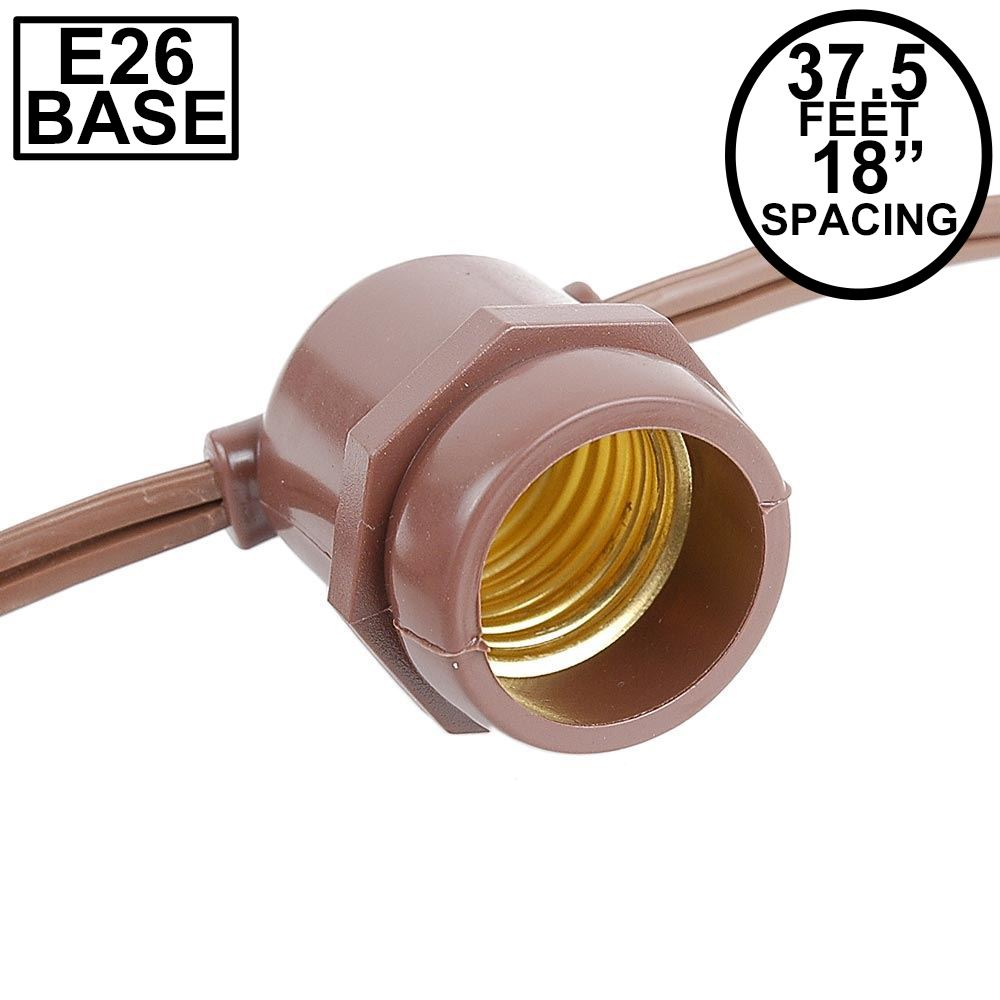 Picture of 37.5' Brown Commercial Grade Stringer (E26 Base)