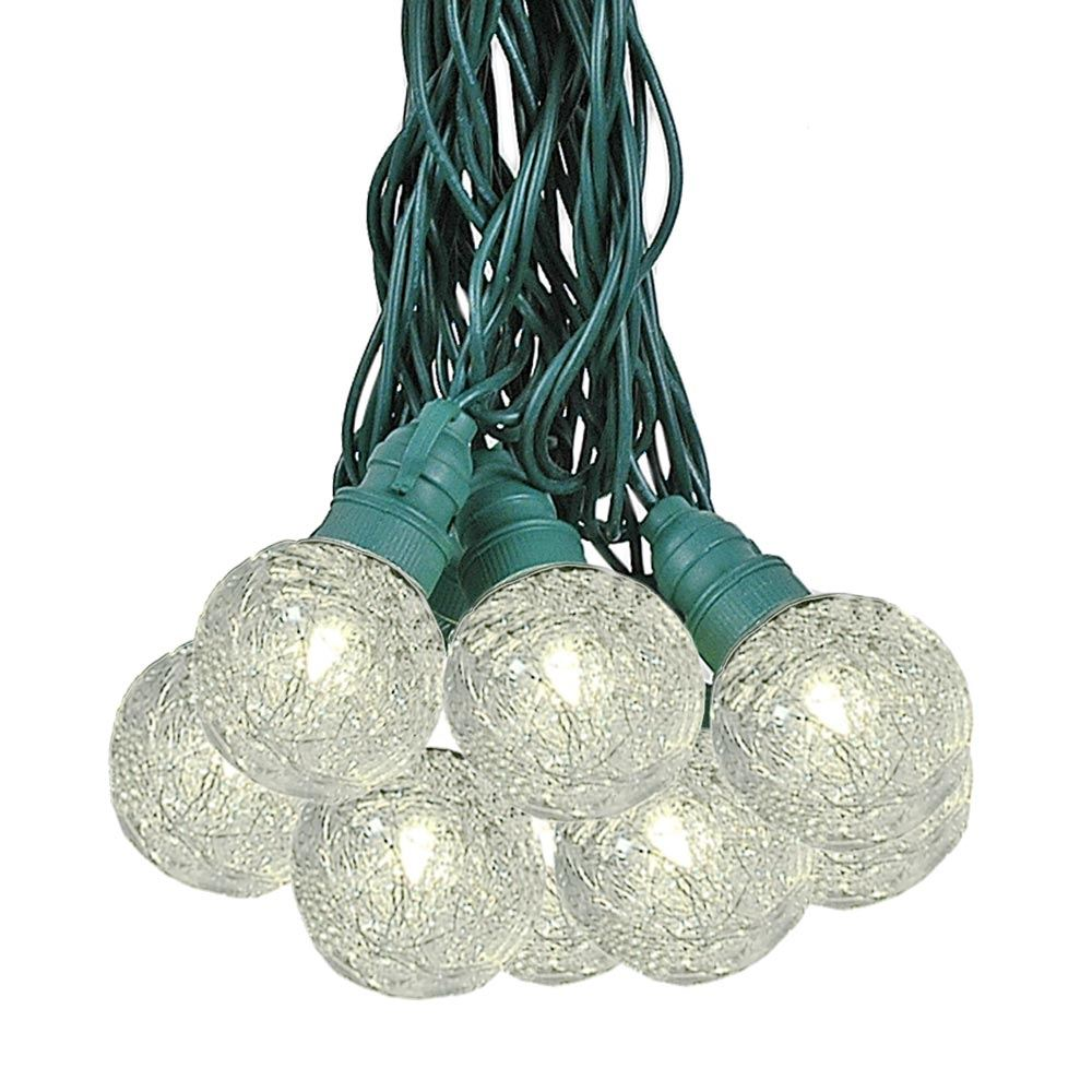 Picture of 25 Warm White Tinsel LED G40 Pre-Lamped String Lights**ON SALE**