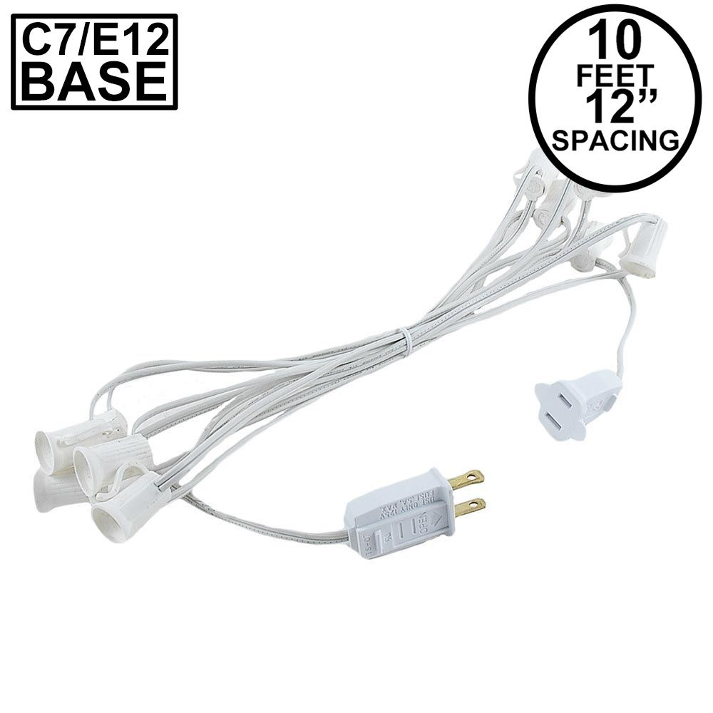 "Picture of C7 10' Stringers 12"" Spacing White Wire"