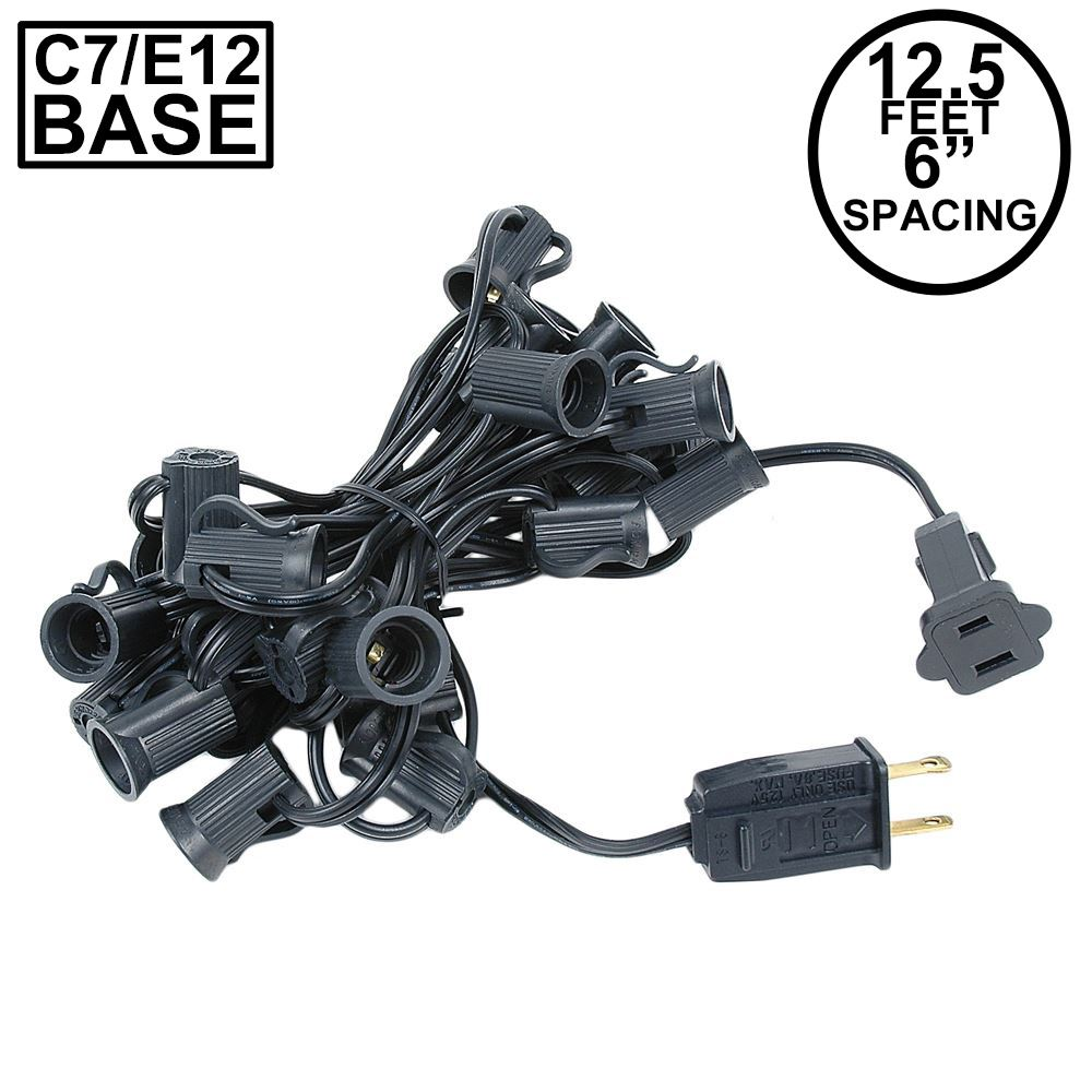 "Picture of C7 12.5' Stringers 6"" Spacing - Black Wire"