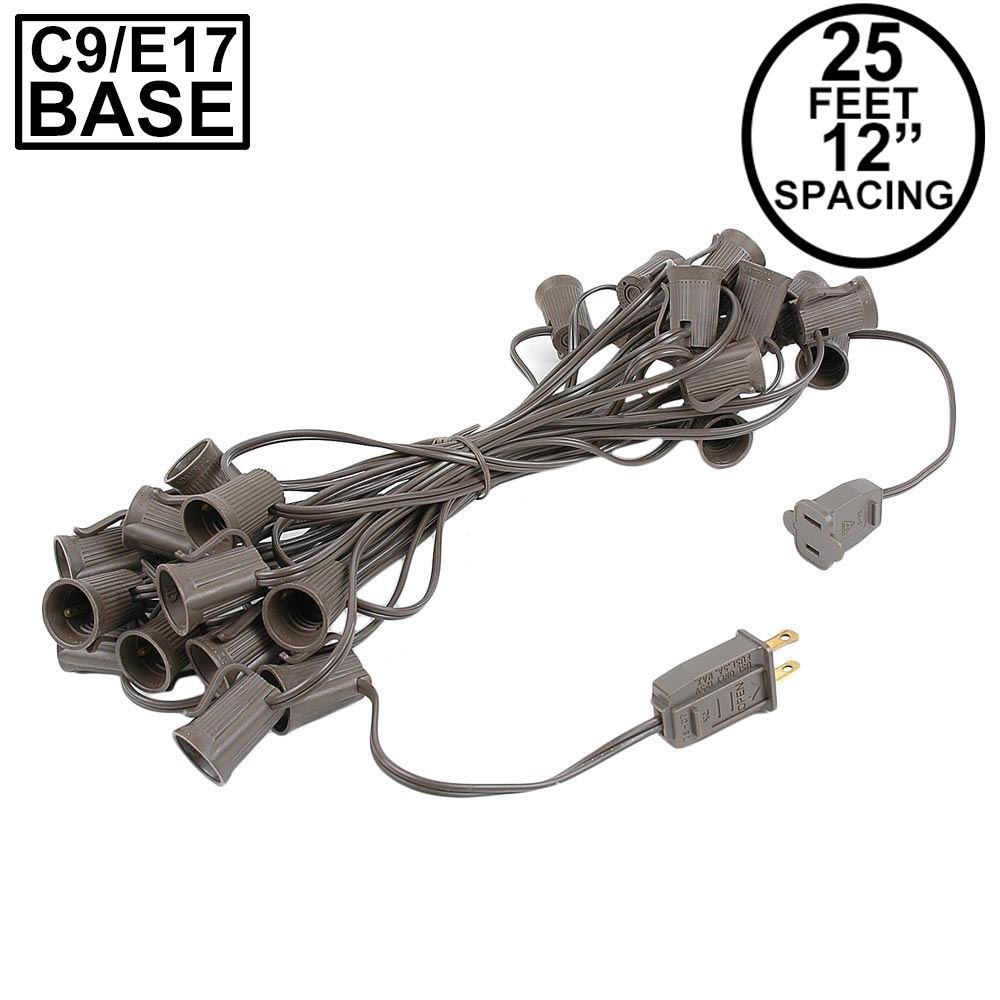 "Picture of C9 25' Stringers 12"" Spacing Brown Wire"