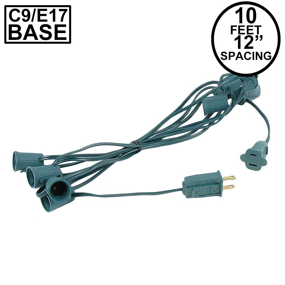 "Picture of C9 10' Stringers 12"" Spacing Green Wire"
