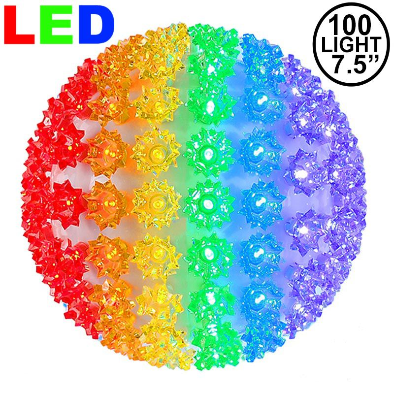 "Picture of 100 Rainbow LED 7.5"" Sphere"