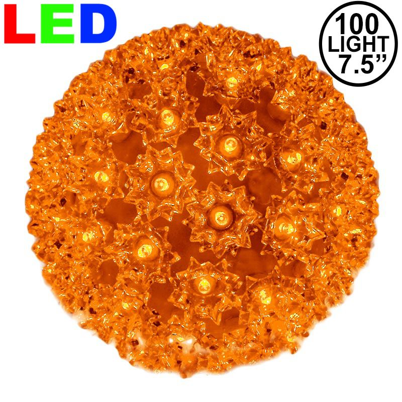 "Picture of 100 Orange LED 7.5"" Sphere"