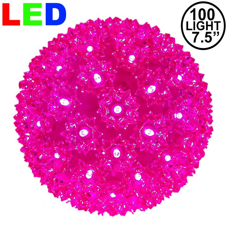 "Picture of 100 Pink LED 7.5"" Sphere"