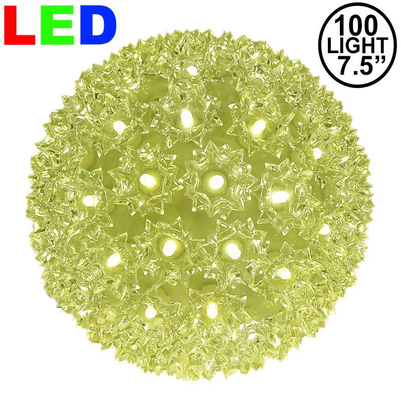 "Picture of 100 Warm White LED 7.5"" Sphere"