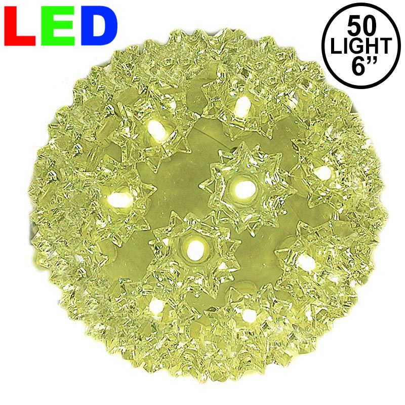 """Picture of 50 Warm White LED 6"""" Sphere"""