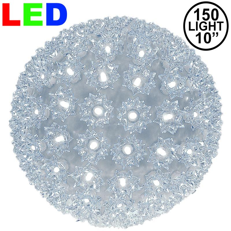 "Picture of 150 Pure White LED 10"" Sphere"