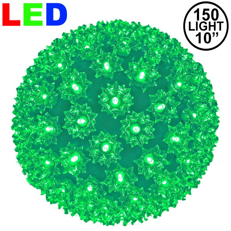 "Picture of 150 Green LED 10"" Sphere"