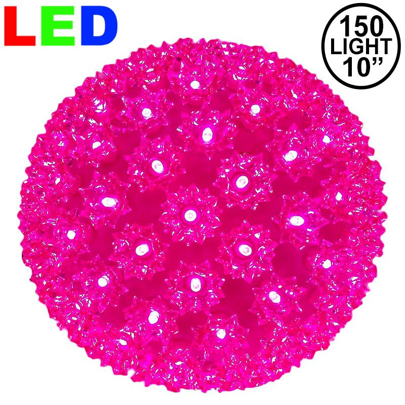 "Picture of 150 Pink LED 10"" Sphere"