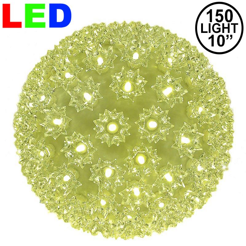 "Picture of 150 Warm White LED 10"" Sphere"