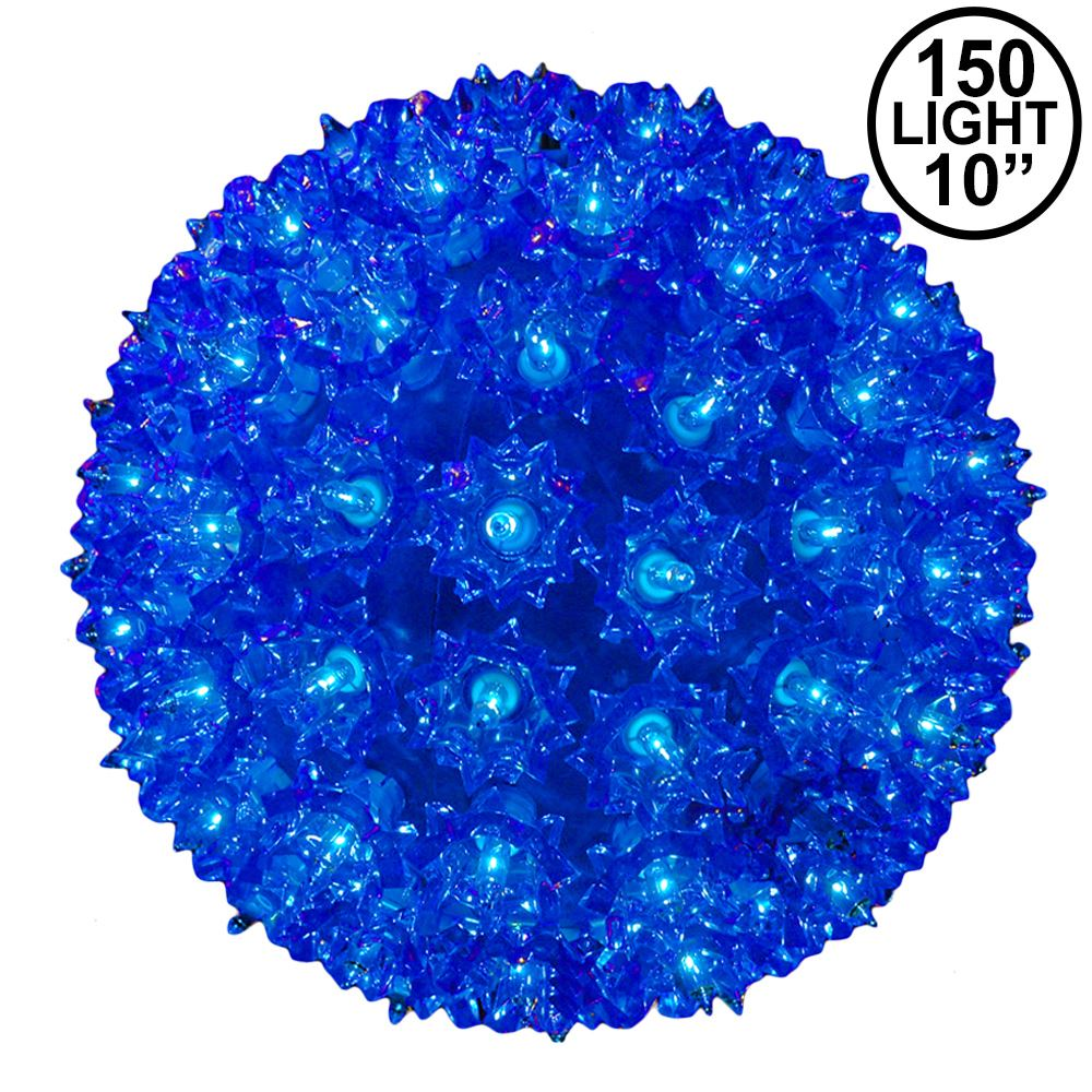 Picture of Blue 150 Light Starlight Sphere 10""