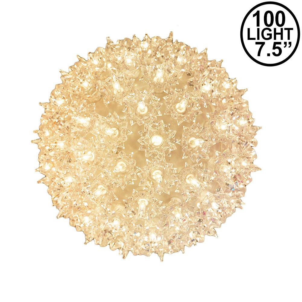"""Picture of Clear 100 Light Starlight Sphere 7.5"""""""