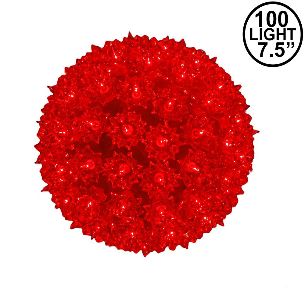 Picture of Red 100 Light Starlight Sphere 7.5""