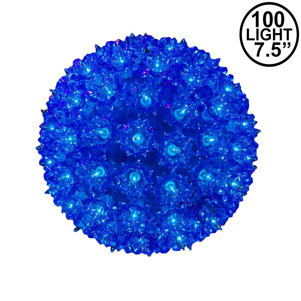 """Picture of Blue 100 Light Starlight Sphere 7.5"""""""