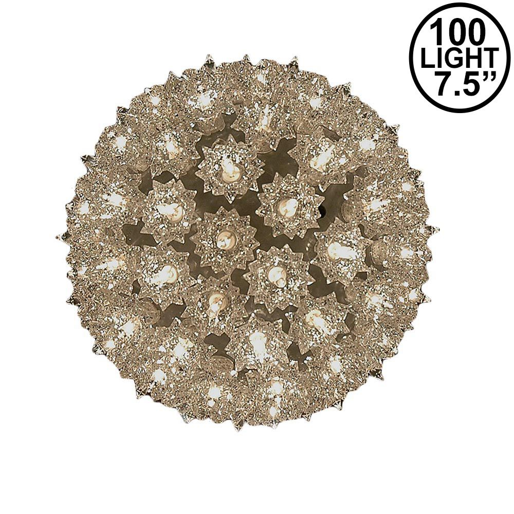 Picture of Silver 100 Light Starlight Sphere 7.5""