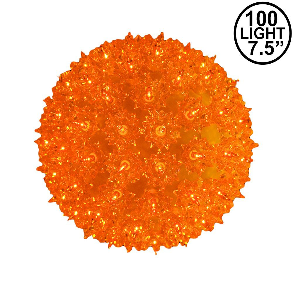 Picture of Amber/Orange 100 Light Starlight Sphere 7.5""