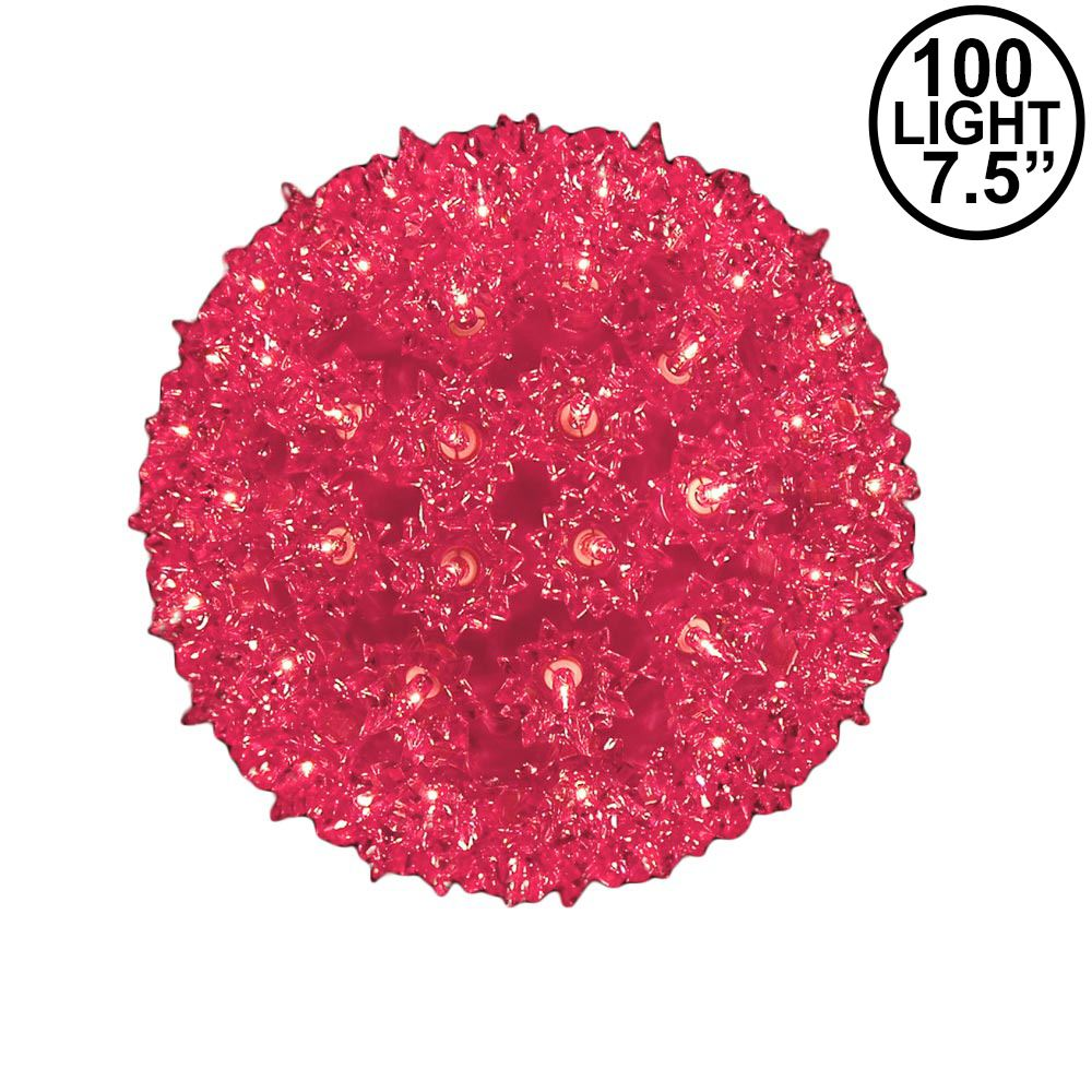 Picture of Pink 100 Light Starlight Sphere 7.5""