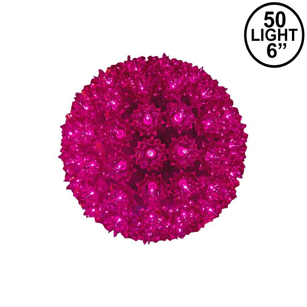 "Picture of Purple 50 Light Mini Starlight Sphere 6"""