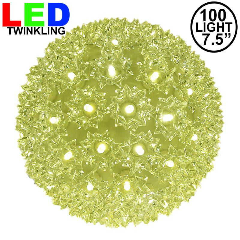 "Picture of 100 Twinkle LED 7.5"" Sphere"