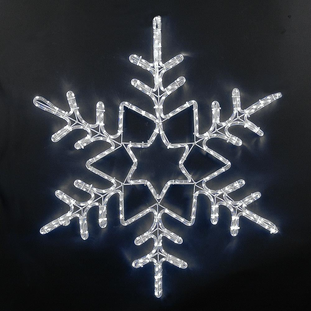 "Picture of 36"" Deluxe LED Snowflake Pure White"
