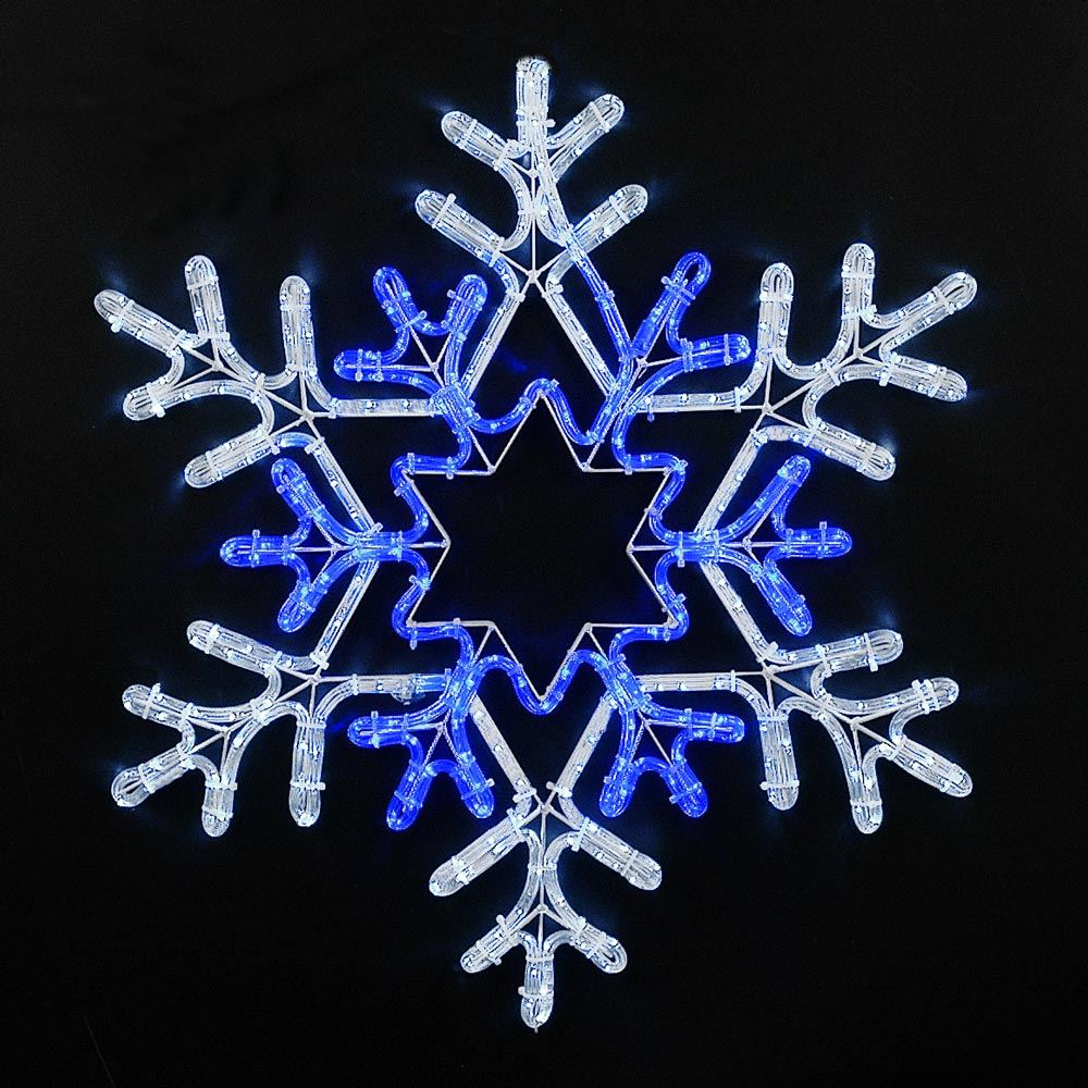 "Picture of 30"" Deluxe Pure White/Blue LED Snowflake"