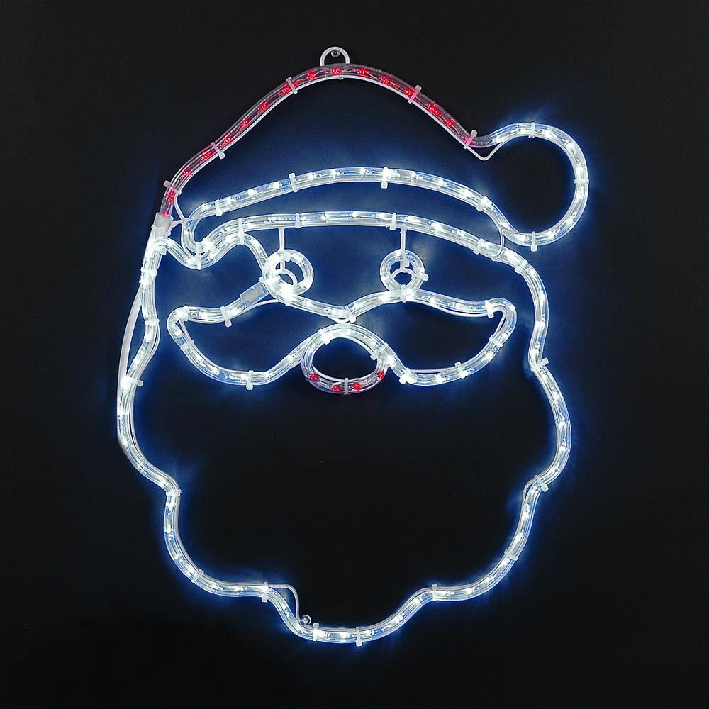 "Picture of 20"" Santa Claus LED Rope Light Motif"