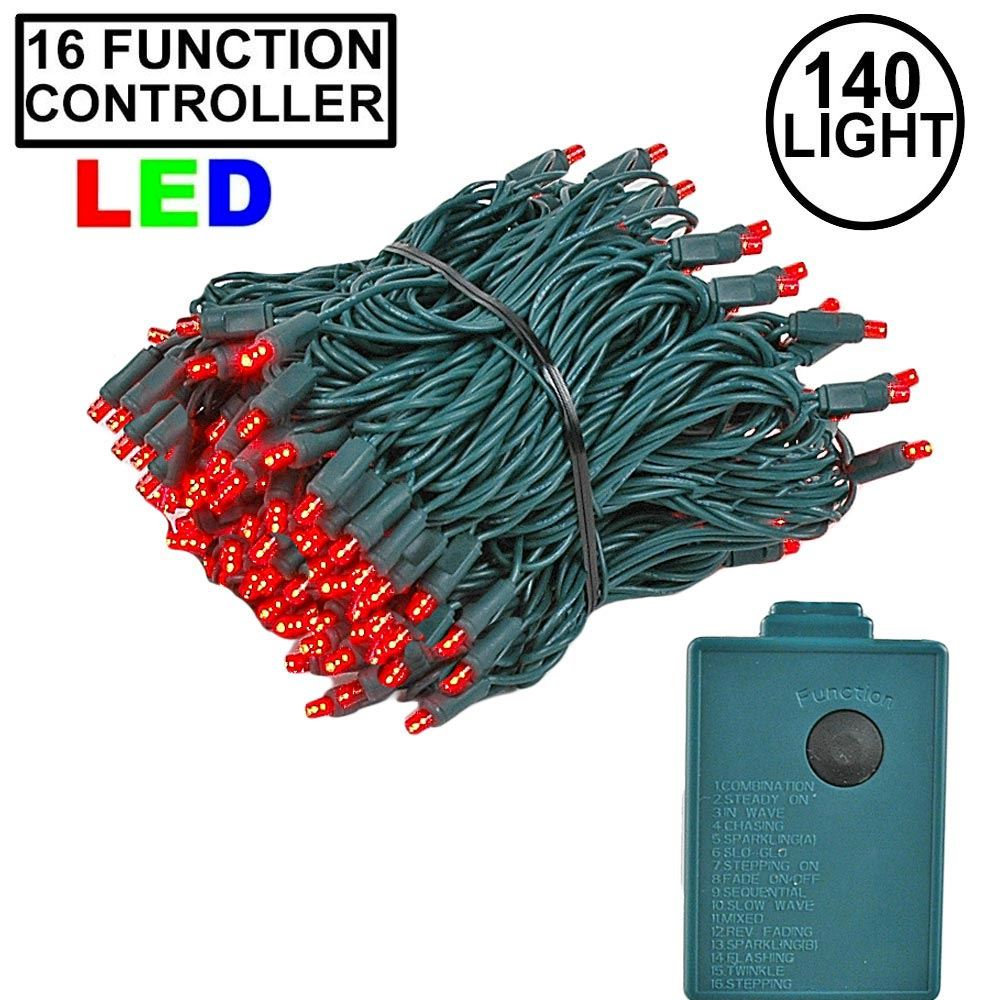 Picture of  Red 140 LED Multi Function Chasing Christmas Lights