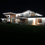 Picture of 25 Light String Set with Pure White LED C7 Bulbs on White Wire