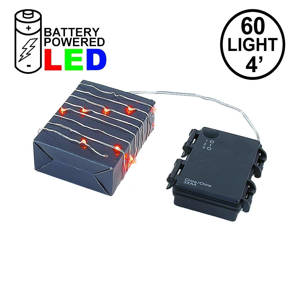 Picture of Battery Operated LED Micro Fairy Light Set 60 Light Amber***On Sale***