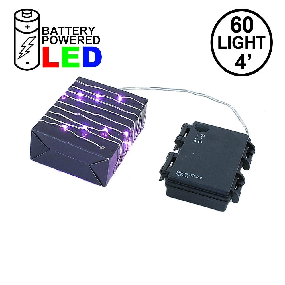 Picture of Battery Operated LED Micro Fairy Light Set 60 Light Pink***On Sale***